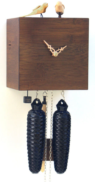Modern Bamboo Cuckoo Clock in Brown 8 Day Movement - Cuckoo Clock Meister