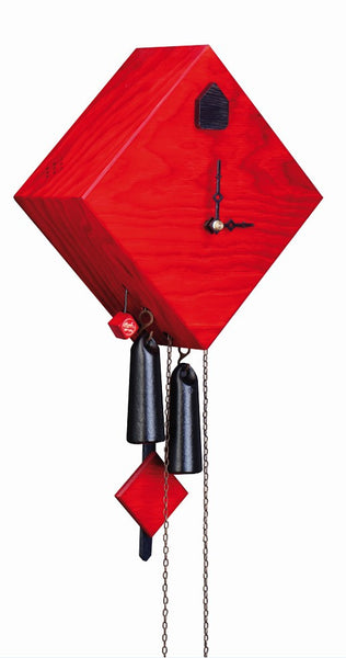 Modern Cuckoo Clock in Red by Rombach & Haas - Cuckoo Clock Meister