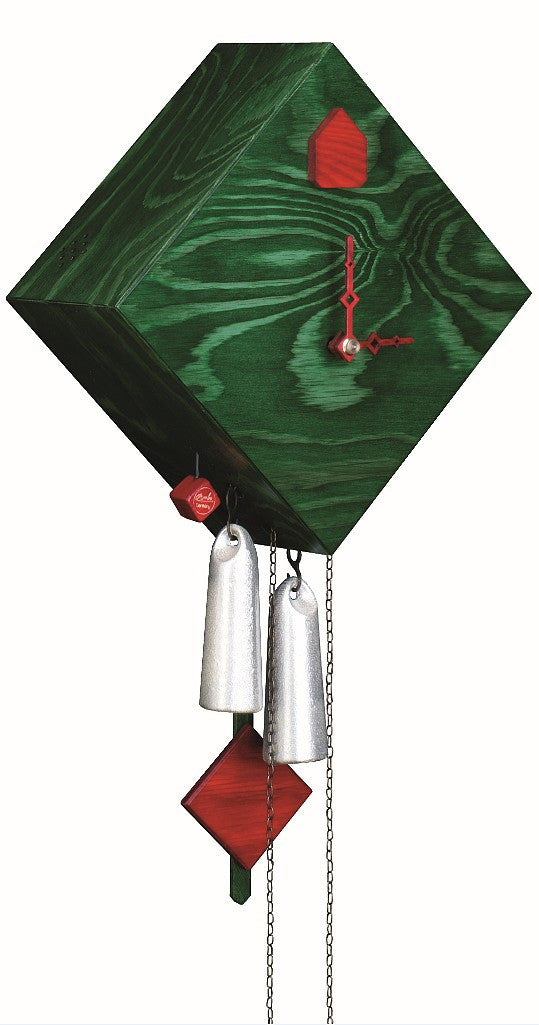 Modern Cuckoo Clock in Green 1-Day Movement - Cuckoo Clock Meister