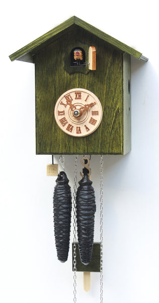 Modern Cuckoo Clock Green 1 Day Movement - Cuckoo Clock Meister