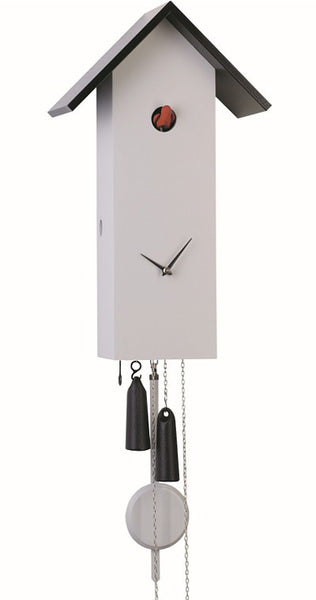 Modern Cuckoo Clock Simple Line in Grey 8-Day Movement - Cuckoo Clock Meister