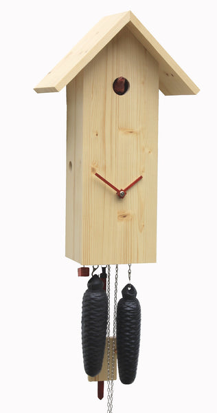 Modern Cuckoo Clock Simple Line Natural Color 8 Day Cycle by Rombach & Haas - Cuckoo Clock Meister