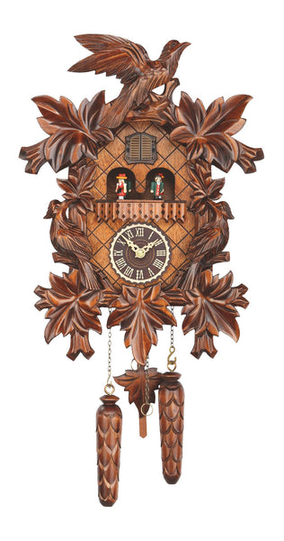 Quartz Cuckoo Clock Seven Leaves & Three Birds with Music by Trenkle - Cuckoo Clock Meister