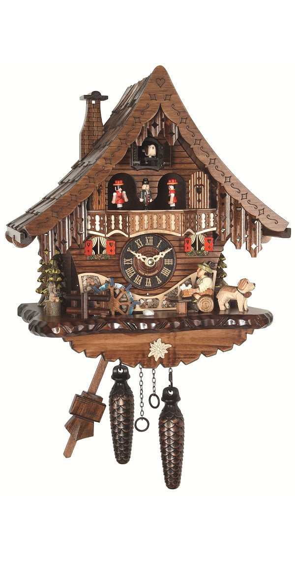 Quartz Cuckoo Clock Black Forest House Beer Drinker and Wheel with Music - Cuckoo Clock Meister