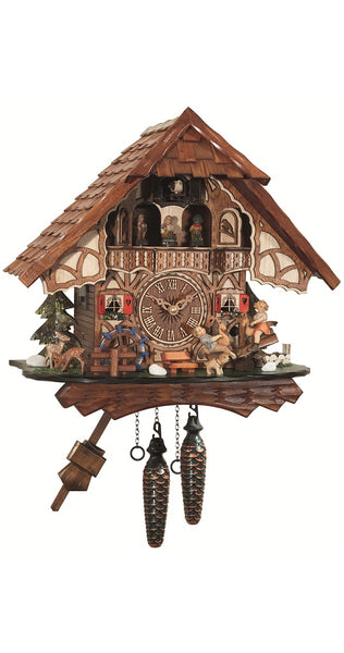 Quartz Cuckoo Clock Black Forest House Seesaw with Music - Cuckoo Clock Meister