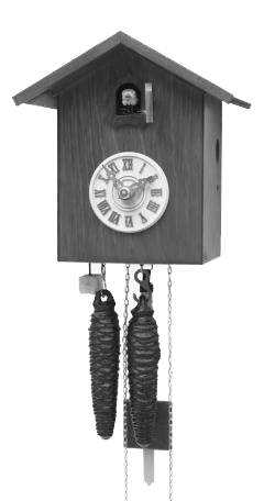 Modern Cuckoo Clock Black 1 Day Movement