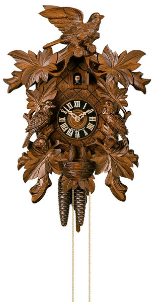 Cuckoo Clock Seven Leaves Three Birds and Nest 1-Day Movement - Cuckoo Clock Meister