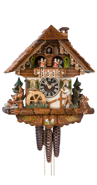 Cuckoo Clock Black Forest House Moving Wanderer 1-Day Movement Music