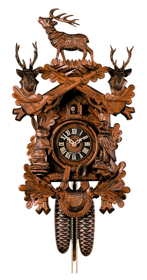 Cuckoo Clock Hunting Clock Standing Deer 8-Day Movement - Cuckoo Clock Meister