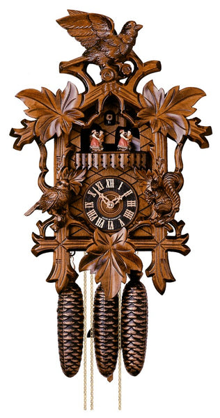 Cuckoo Clock with Five Leaves and Bird 8-Day Movement Music - Cuckoo Clock Meister