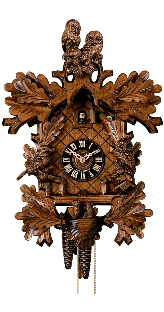 Cuckoo Clock Two Owls 8-Day Movement by Hones - Cuckoo Clock Meister