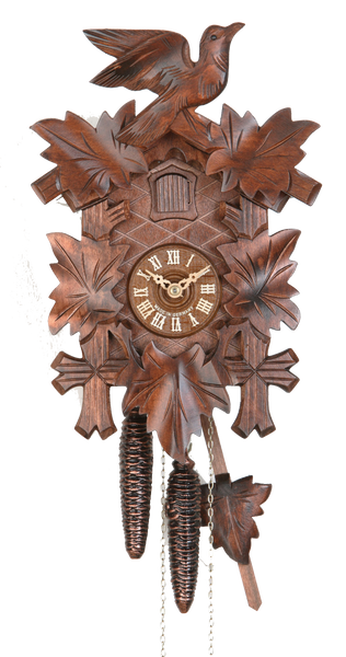 Cuckoo Clock Five Leaves and Bird 1-Day Movement By Hekas - Cuckoo Clock Meister