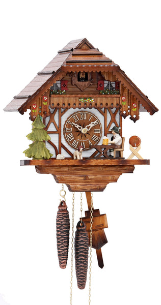 Cuckoo Clock Black Forest House Moving Beer Drinker 1-Day Movement - Cuckoo Clock Meister