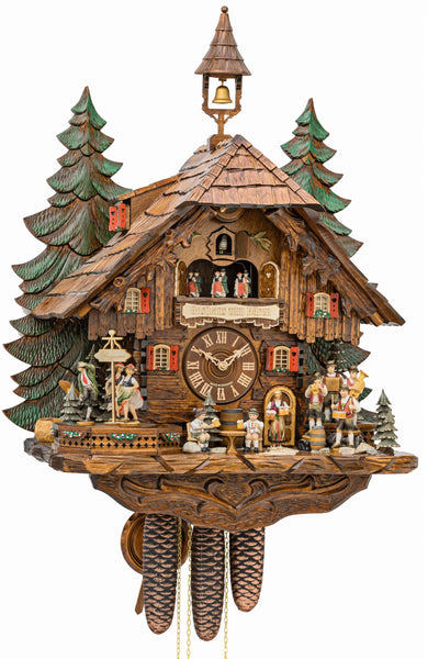 Cuckoo Clock with Dancers, Musicians and Beer Drinkers 8-Day Music - Cuckoo Clock Meister