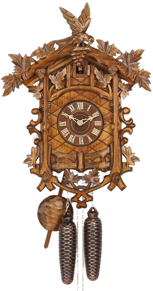 Cuckoo Clock Fourteen Leaves and Birds 8-Day Movement - Cuckoo Clock Meister