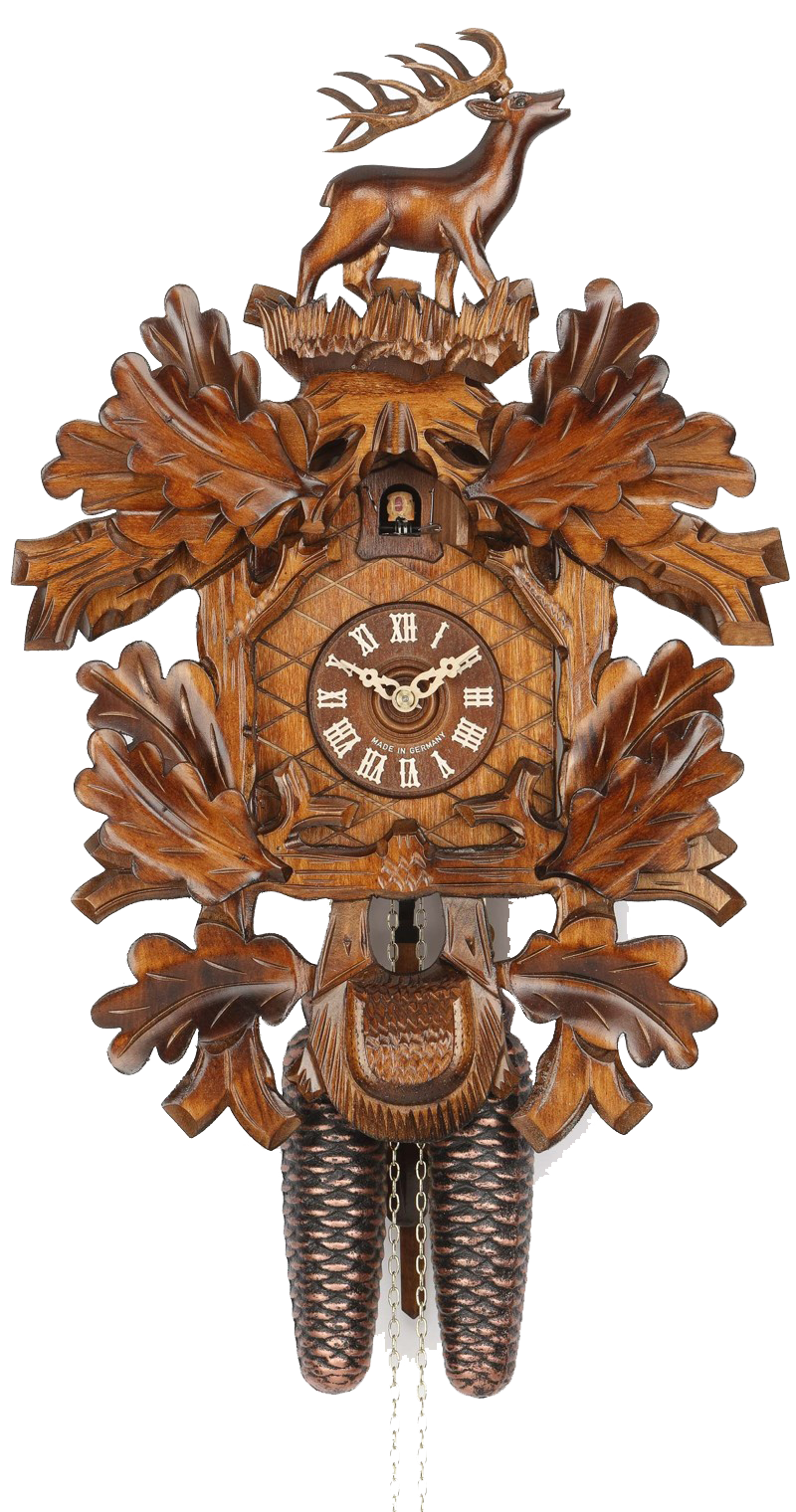 Cuckoo Clock Hunting Clock with Standing Deer 8-Day Movement - Cuckoo Clock Meister