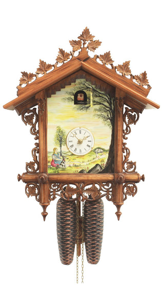 Cuckoo Clock 1885 Replication Rail Station Clock 8-Day Movement
