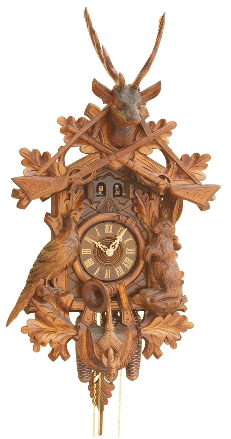 Cuckoo Clock Hunting Clock with Animals 8-Day Movement Music - Cuckoo Clock Meister
