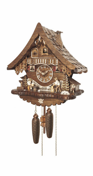 Cuckoo Clock Black Forest House Chopper and Beer Drinker 8-Day Movement