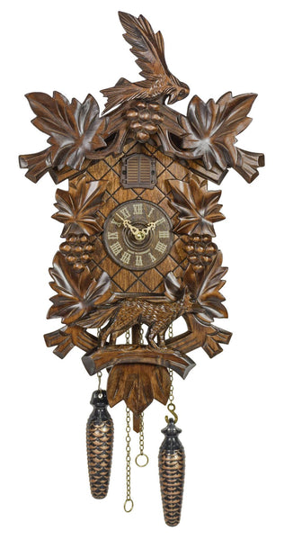 Quartz Cuckoo Clock Grapes and Bird by Trenkle