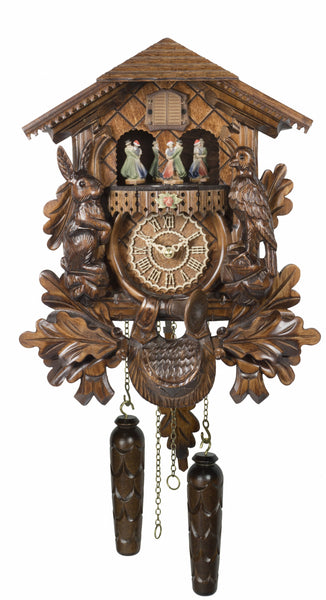 Quartz Cuckoo Clock with Moving Dancers and Music by Trenkle