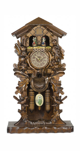 Quartz Standing Cuckoo Clock with Moving Dancers and Music - Cuckoo Clock Meister