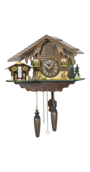 Quartz Cuckoo Clock Swiss House with Weather House - Cuckoo Clock Meister