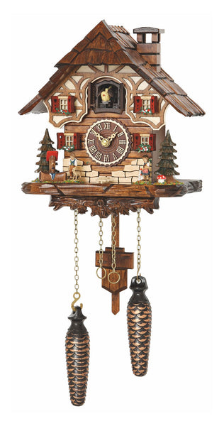 Quartz Cuckoo Clock Black Forest House with Music by Trenkle