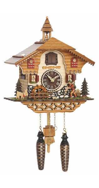 Quartz Cuckoo Clock with Wanderer and Mill Wheel with Music - Cuckoo Clock Meister
