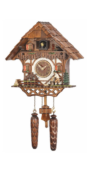 Quartz Cuckoo Clock with Moving Wood Cutter with Music - Cuckoo Clock Meister