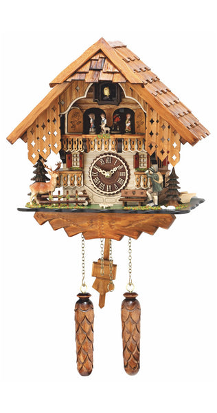 Quartz Hunting Cuckoo Clock with Moving Dancers and Music - Cuckoo Clock Meister