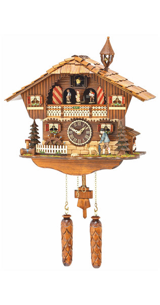 Quartz Cuckoo Clock Swiss House Dancers Wanderer with Music - Cuckoo Clock Meister