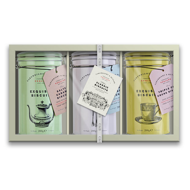 C&B Gift Box Trio - Classic Biscuits Selection