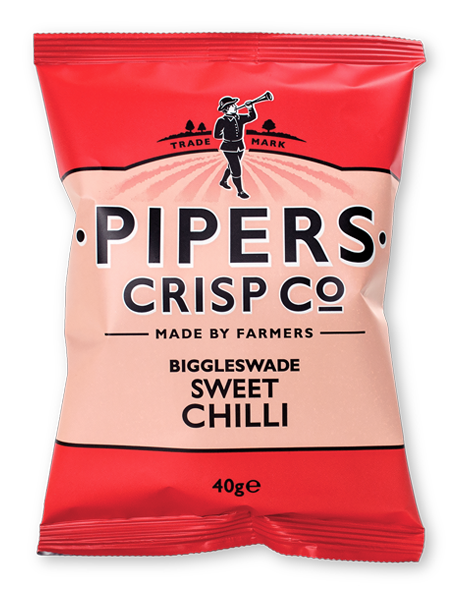 Pipers Crisps BIGGLESWADE SWEET CHILLI 40 g