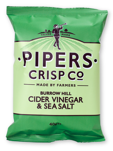 Pipers Crisps BURROW HILL CIDER VINEGAR & SEA SALT 40 g