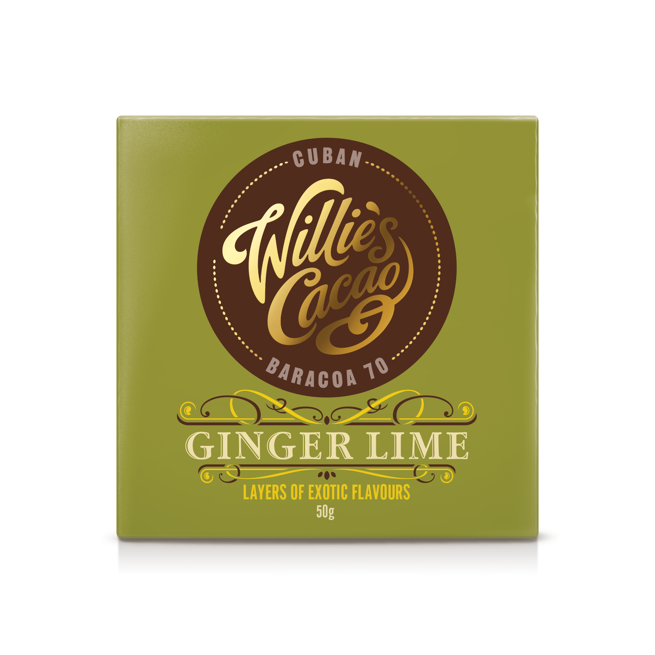 Willie's Cacao Ginger Lime Cuban Baracoa 70