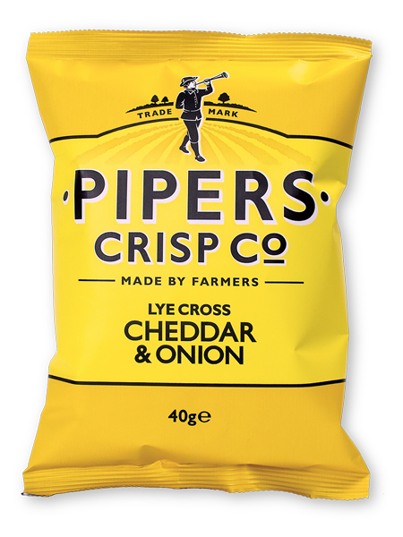 Pipers Crisps CHEDDAR CHEESE AND ONION 40 g