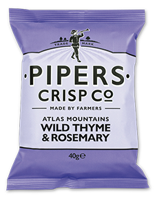 Pipers Crisps WILD THYME & ROSEMARY 40 g