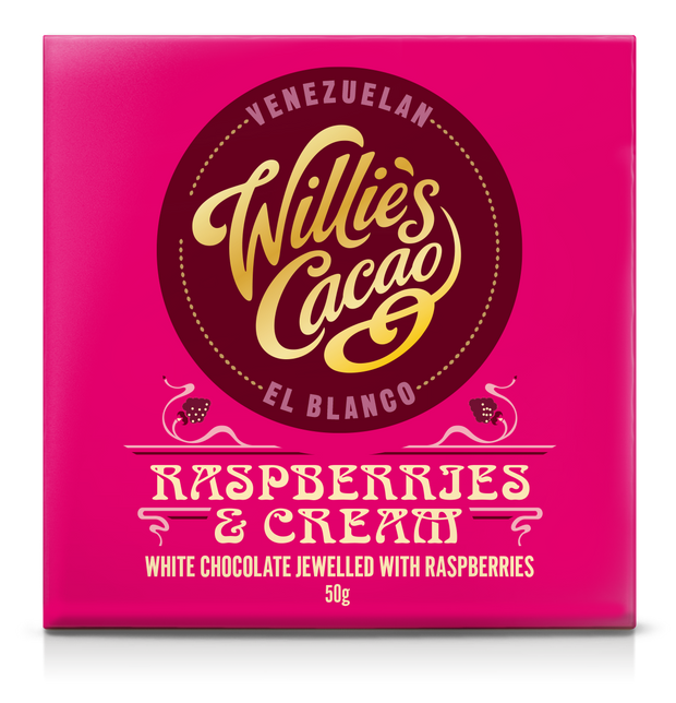 Willie's Cacao Raspberries & Cream Venezuelan El Blanco