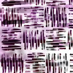 PrattLondon Small Knives Print in Purple: Sharper