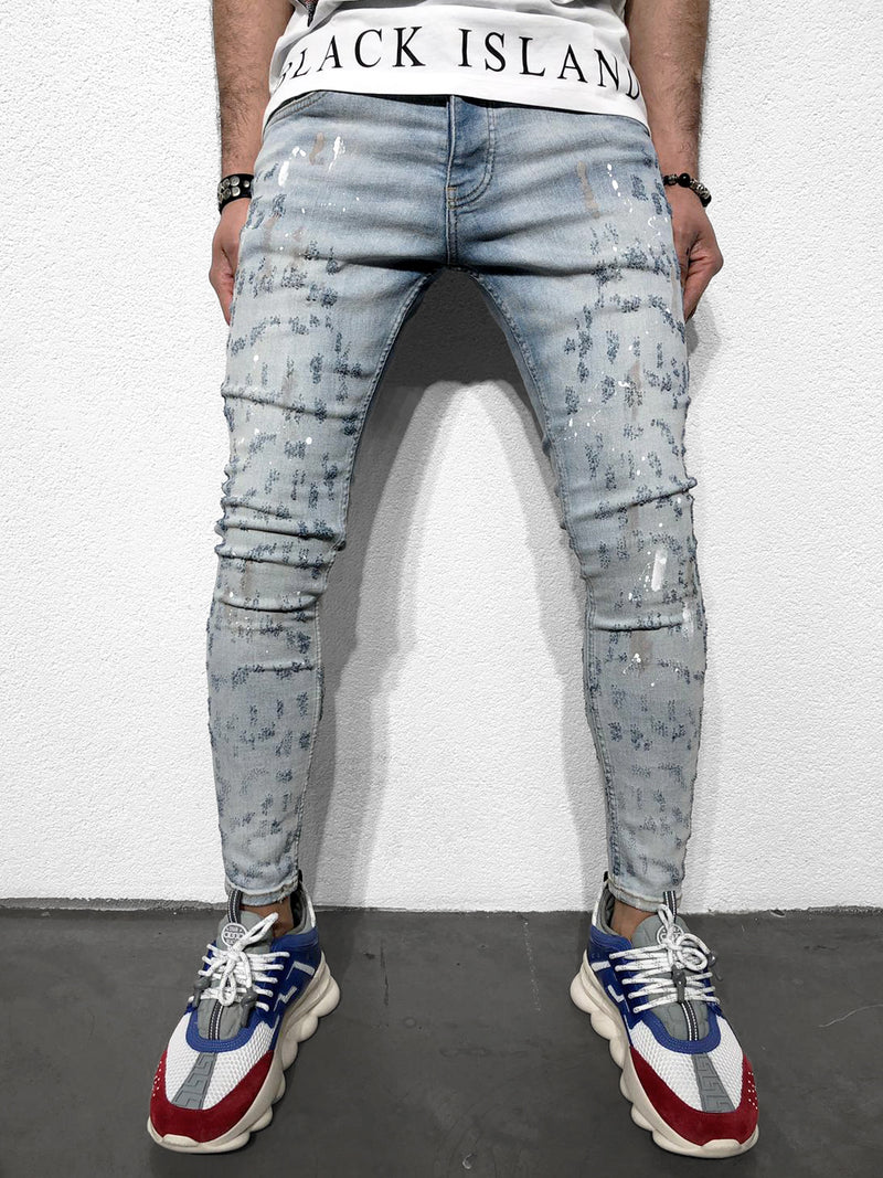 SKINNY-JEANS IM USED-LOOK - DENIMHOLICS