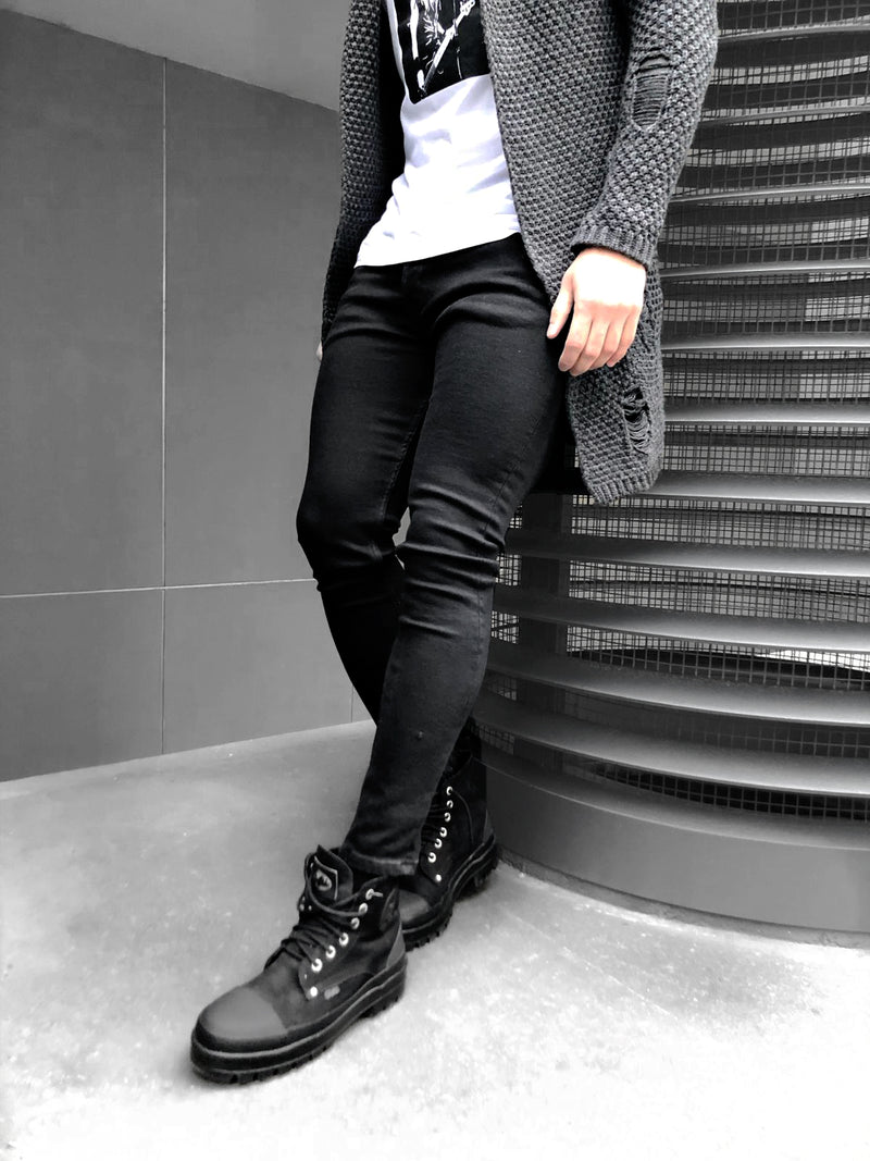 SKINNY-JEANS BLACK BASIC - DENIMHOLICS