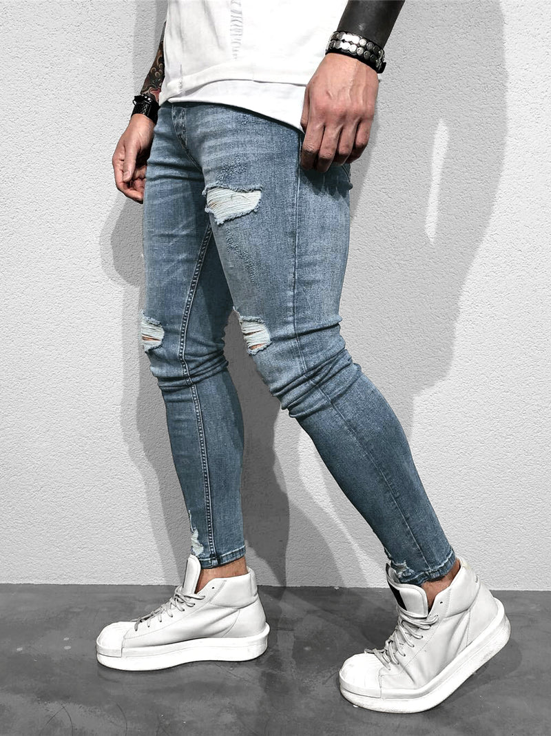 SKINNY-JEANS DESTROYED LOOK - DENIMHOLICS