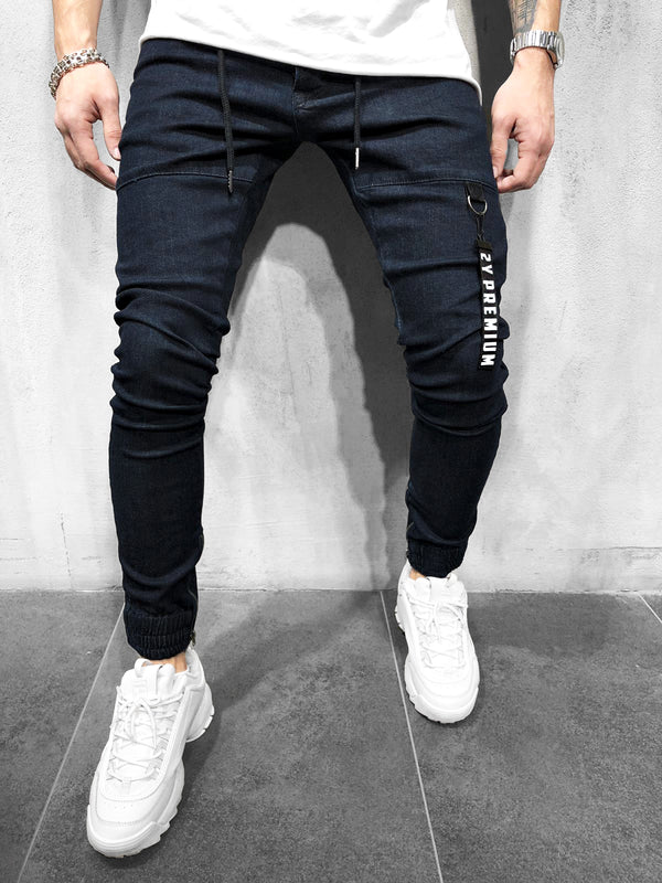 JOGG-JEANS DARK BLUE - DENIMHOLICS