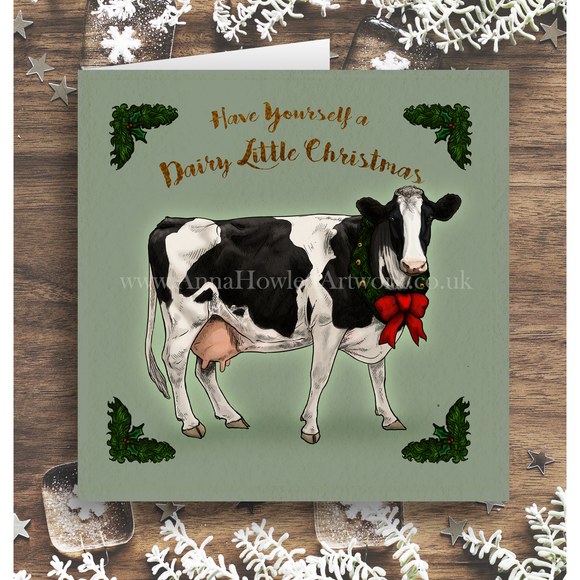 'Dairy Little Christmas' greetings card