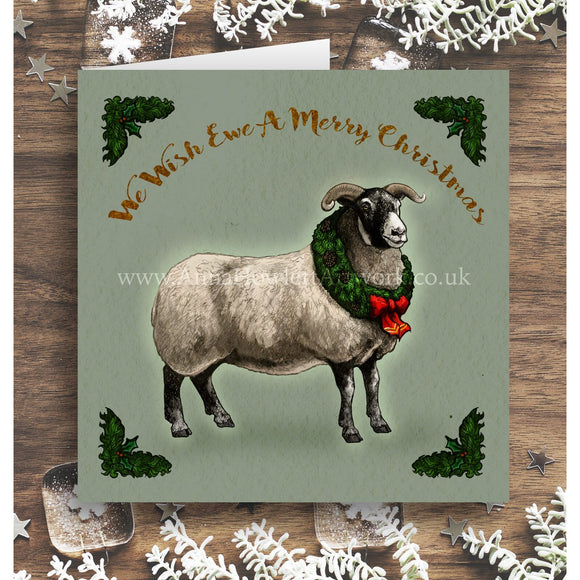 'We Wish Ewe a Merry Christmas' Greetings Card