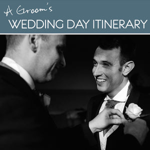 A groom's wedding day itinerary