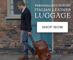 Personalised Luxury Italian Leather Luggage - Shop Now