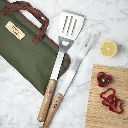 BBQ Tools - 4 Piece BBQ Tools Set In Personalised Case