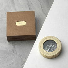 Box - Brass Travellers Compass With Wooden Box
